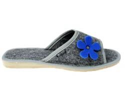 Pantofle damskie filcowe z...